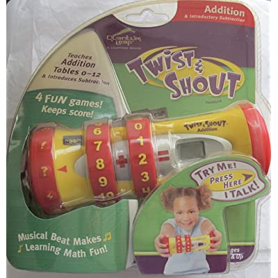 Twist & Shout Leap Frog Electronic ADDITION Hand Held MATH AID Teaches & Quizzes w MUSICAL BEAT Makes Math Fun! (2001-03): Toys & Games