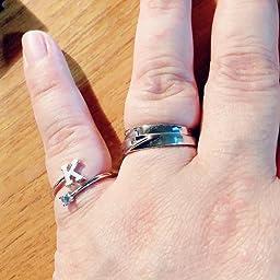 Amazon Rlykal ルリカル ペアリング 指輪 カップル リング 結婚指輪 婚約指輪 オープンリング エンゲージリング フリーサイズ レディース メンズ シルバー ピンク ダブルセット フリーサイズ リング 通販
