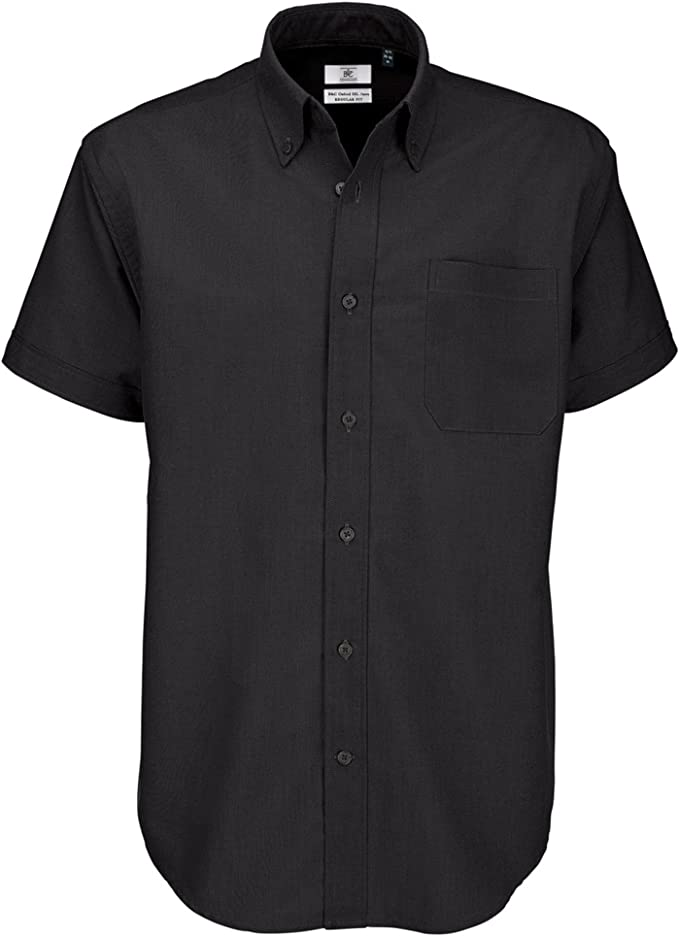 B/&C OXFORD SHIRT SHORT SLEEVE COTTON  SMART BUSINESS TOP QUALITY WORK S-6XL MEN