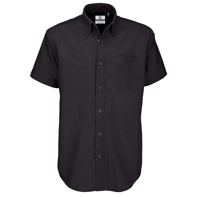 40441238445 B C Men s Oxford Short Sleeve Shirt Casual  Amazon.co.uk  Clothing