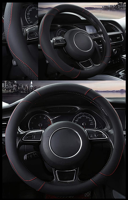 SFONIA Auto Lenkrad Abdeckung Lenkradschutz Lenkradh/ülle Mikrofaser-Leder Universal 37-38cm//15Rutschfest Atmungsaktiv Langlebig Grau