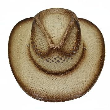 JXXDQ Sombreros de Paja Hombres y Mujeres Sombrero de Playa de Vaquero  Verano Viaje al Aire Libre Grandes Aleros Sombrero Sombrero de Sol  Protección Solar ... 3c015a2c2ce
