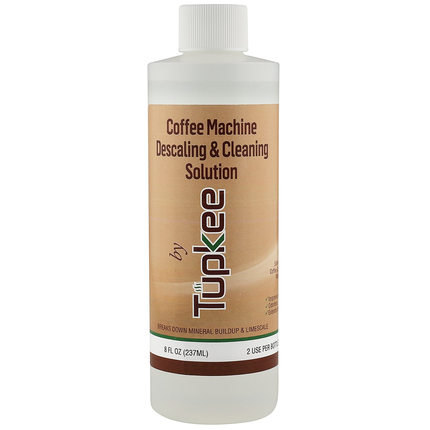 Tupkee Coffee Machine Descaling Solution – Universal, For Drip Coffee Maker, nespresso, delonghi, and Keurig Coffee Machines Descaler & Cleaning Solution, Breaks Down Mineral Buildup and Limescale