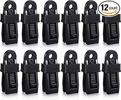 Boat Cover Car Cover TOYMIS 12 Pcs Tarp Clip Crocodile Mouth Multipurpose Tarp Clips Lock Grip Awning Clamp for Tents Tarp Pool Cover 5 Colors