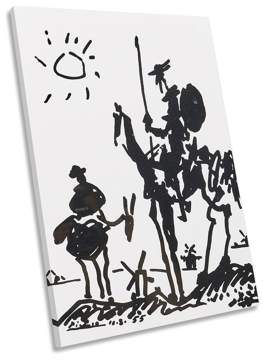 Canvas Geeks Pablo Picasso Don Quixote Leinwandbild, 50cm Wide x 75cm high
