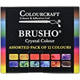 Brusho Crystal Colours Set 12/Pkg-