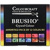 Brusho Crystal Colours Set 12/Pkg