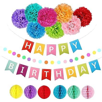 Amazon.com: Decoración de cumpleaños de Srinea, pancarta de ...