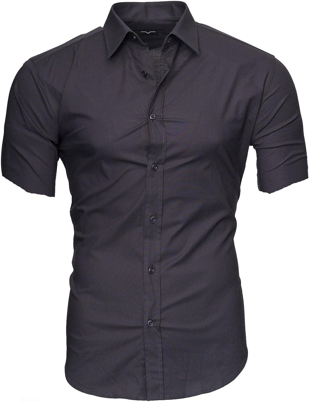 Kayhan Caribic Herren-Hemd Slim-Fit Kurzarm-Hemden S-6XL