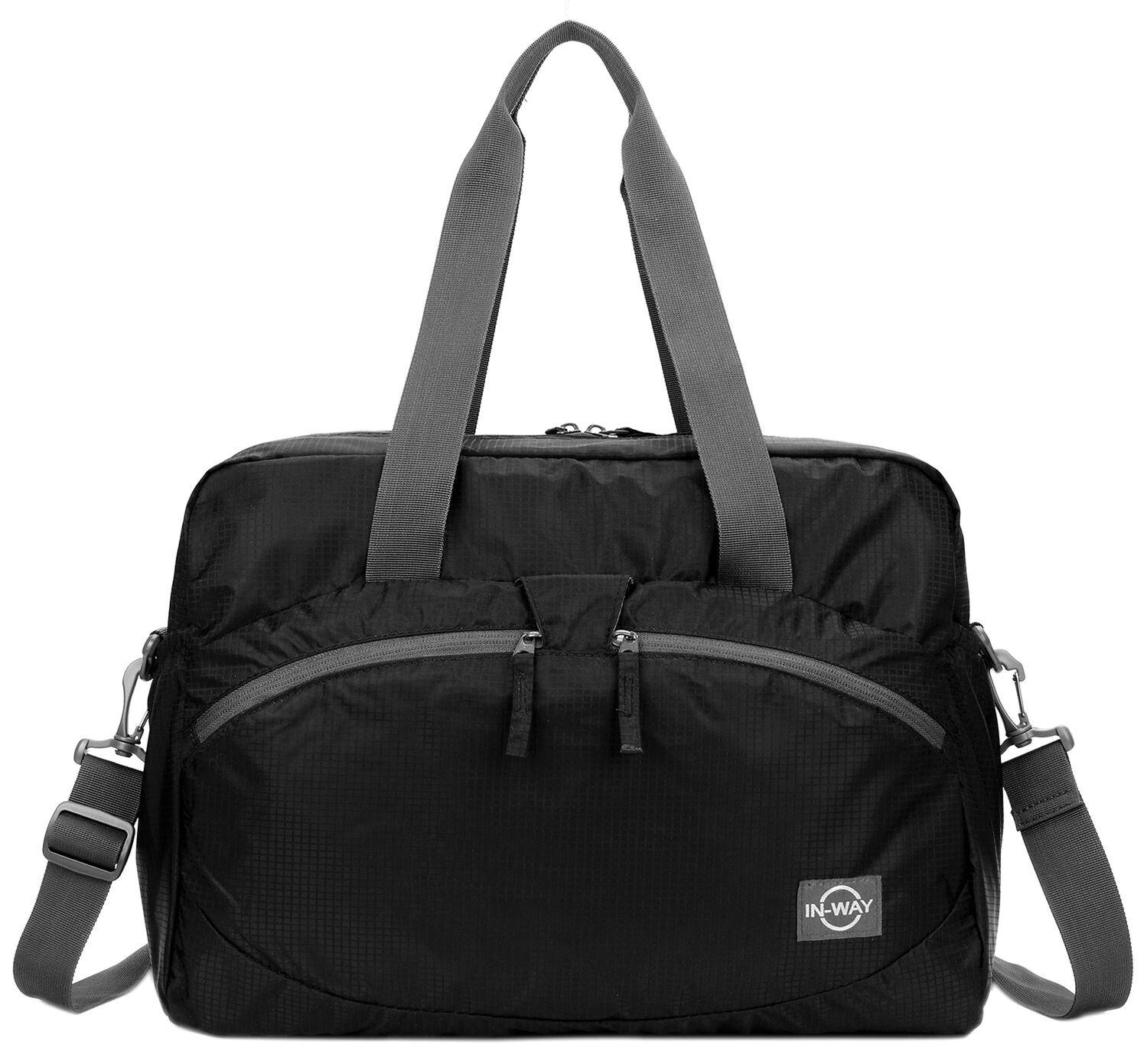 Forestfish Women's Lightweight Gym Tote Bag Waterproof Sports Handbag (Black Plus)