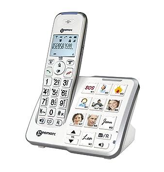 Und Geemarc 10 Optischer Anrufanzeige Der Fototasten 295 Amplidect Direktwahl Photo Großtastentelefon Mit An BasisstationIntegrierter UzMSVp