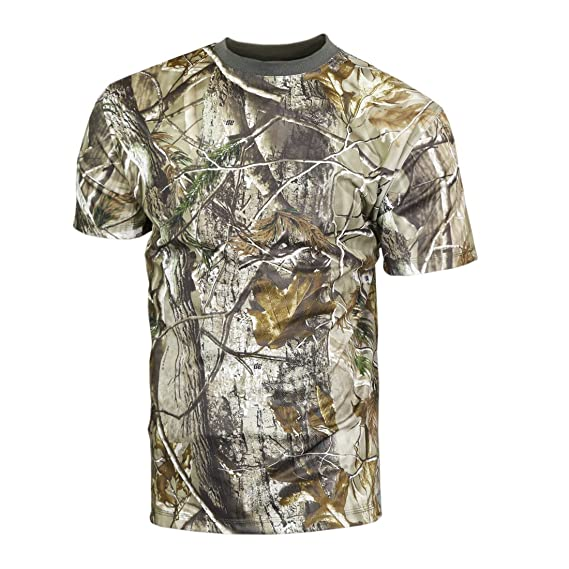 a3ed50872d548 Raptor hunting solutions Mens Realtree AP Camo T-Shirt: Amazon.co.uk:  Clothing