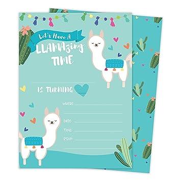 Amazon Com Llama 3 1 Happy Birthday Invitations Invite Cards 25