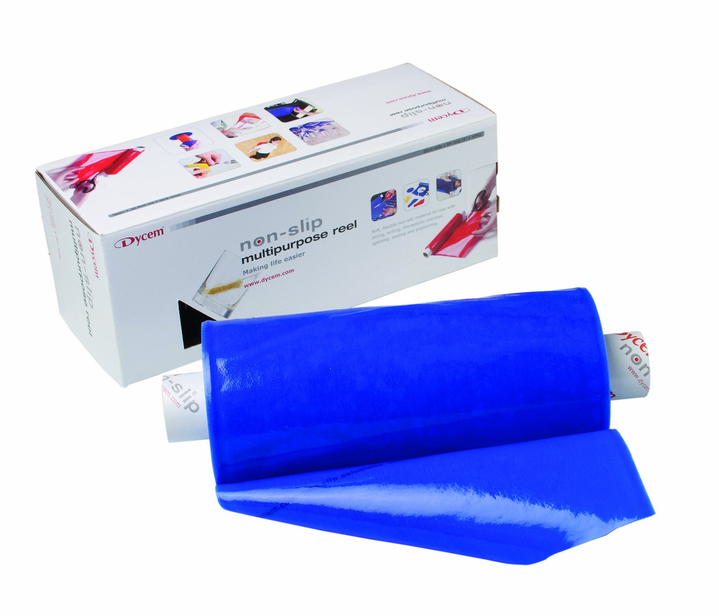 Dycem Non-Slip Material Roll, Blue, 8'' X 10 yd