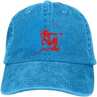 ruishandianqi Cappellini Baseball Red Sagittarius Female Archer Denim Hat Adjustable Men Plain Baseball cap