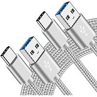 Cable Tipo Usb C 2M+2M para Samsung S20 S21 Plus Ultra FE 5G/A32 A72 5G/A12 A02S/A70 A21S M51 M11 M31 M31S A3 A5 2017 A8…