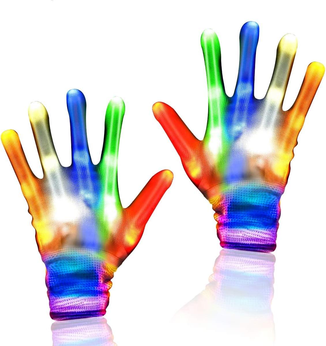 Led Party Gloves Light Rave Finger Lighting Halloween Flashing Dance Electro Up