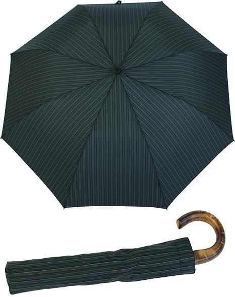 Paraguas plegable para hombre con mango de madera, de Knirps: Amazon.es: Equipaje