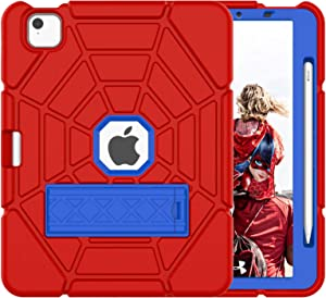 Grifobes New iPad Air 4th Generation 2020 Case, iPad 10.9 Case 2020 for Kids, Heavy Duty Shockproof Rugged Case with Built-in Apple Pencil Holder Cover for iPad Air 10.9