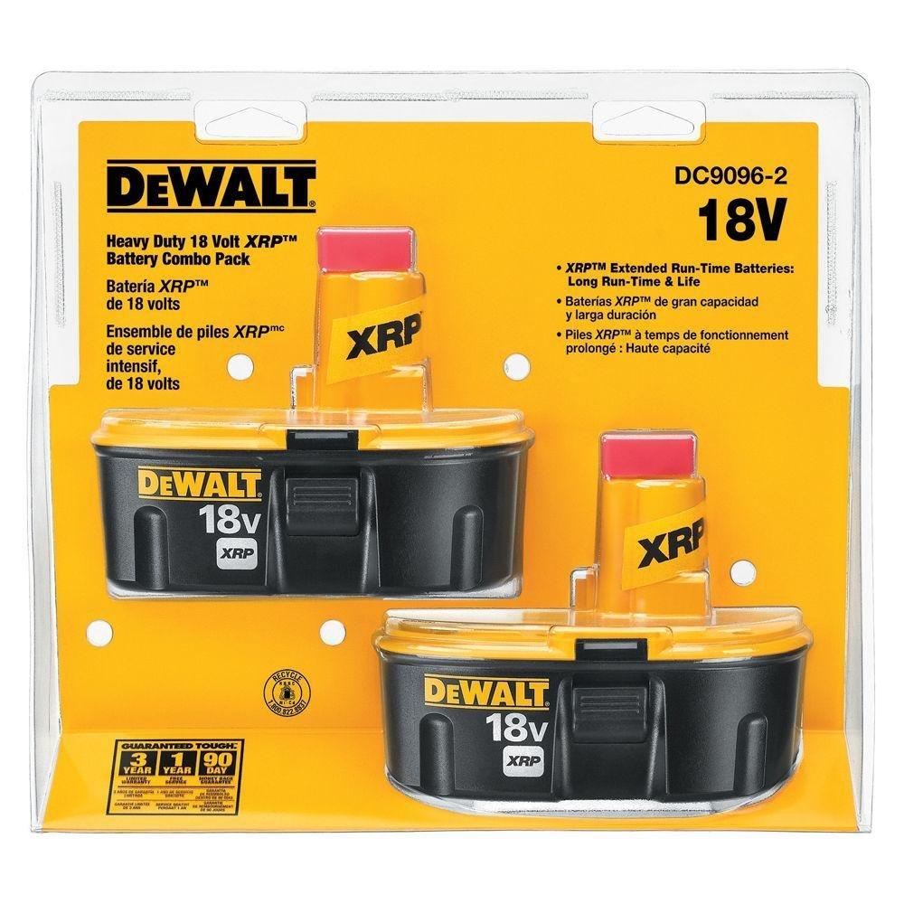 DEWALT DC9096-2 18-Volt XRP NiCd Extended Runtime Battery Pack 2.4Ah - 2 Pack