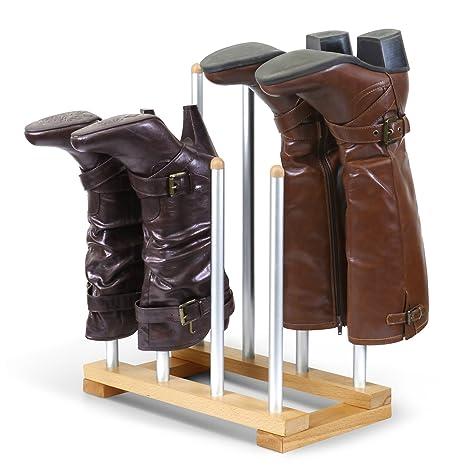 INNOKA 4 Pairs Boot Rack Organizer, Standing Wooden U0026 Aluminum Storage  Holder Hanger For Riding
