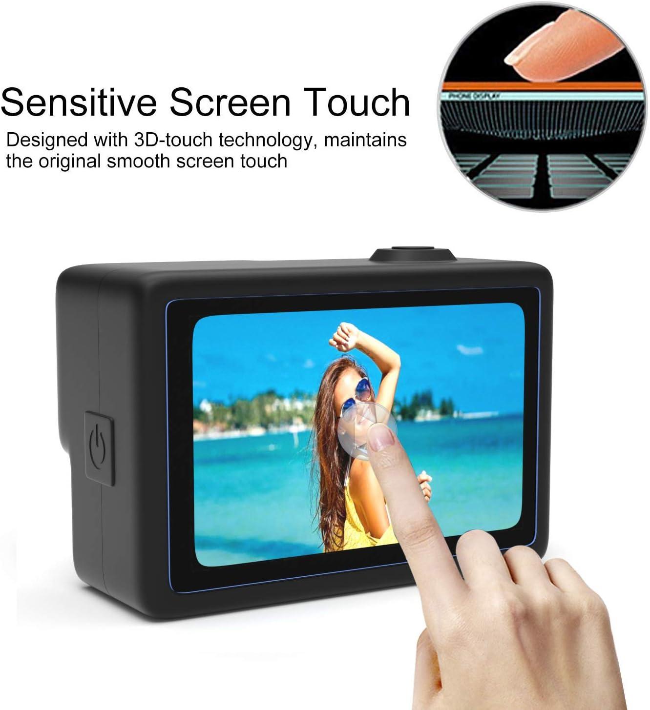 Tempered Glass Lens Protector 【6Pcs】 Screen Protector for GoPro Hero 7 Black//Hero 6//Hero 5// Hero 2018 Hongdak Tempered Glass Screen Protector Small Display Film Accessories for GoPro Camera