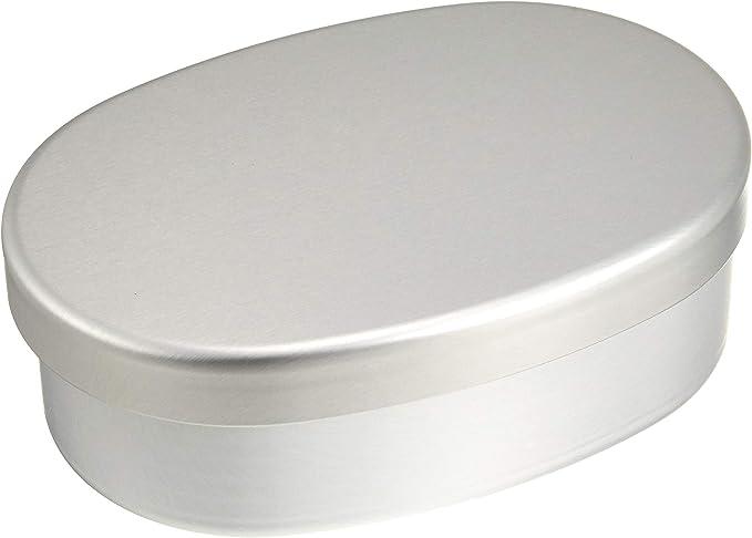 Muji Bento/almuerzo caja aluminio grande ovalada: Amazon.es: Hogar