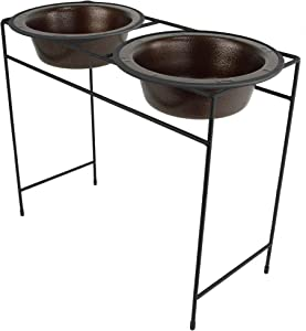 Platinum Pets Modern Double Diner Feeder with Stainless Steel Cat/Dog Bowls
