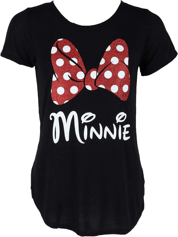Disney Minnie Mouse Glitter Bow Women's T-Shirt