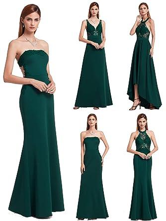 size 40 c351b a8b1d Ever-Pretty Vestito de Sera Lungo Donna Senza Maniche Pizzo Elegante 07189