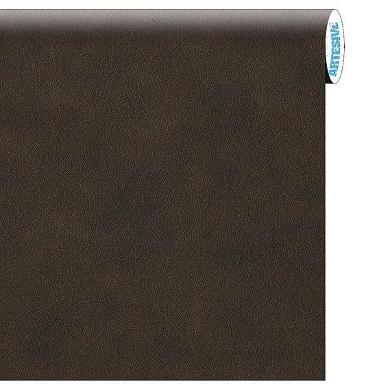 ARTESIVE TEC-021 Cuero Marrón 30 cm x 2,5 MT. - Película Adhesiva