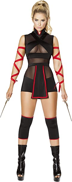 Amazon.com: Sexy Mujer 3pc Ninja Striker Costume: Clothing