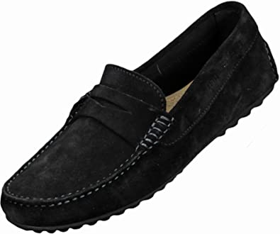 b3449d8f2 Tommy Hilfiger Amalfi Suede Loafers Black (EU 43   UK 9)  Amazon.co.uk   Shoes   Bags