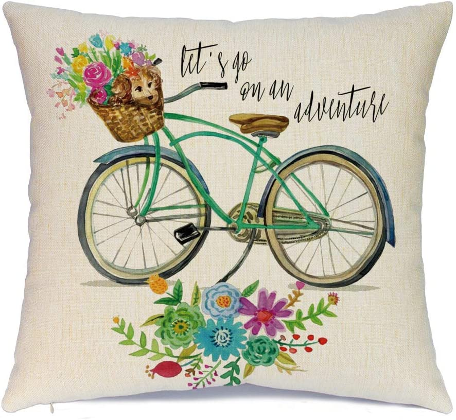 Easter Series Cushion Cover Case Pillow Custom Zippered Square Pillowcase Hlonon Easter Pillow Covers 18 x 18 Inches Set of 4 16 Easter