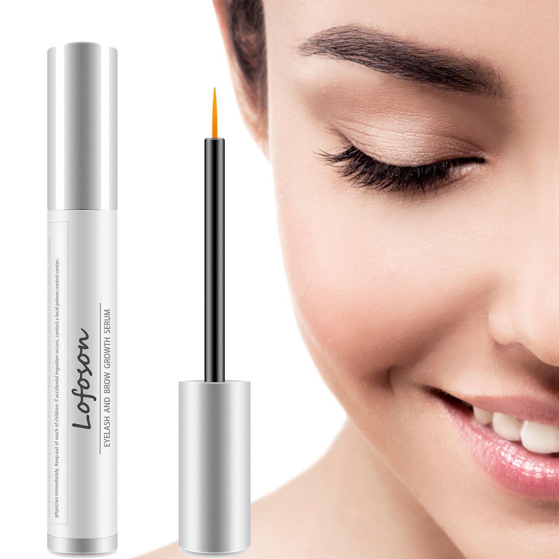 Eyelash Growth Serum, Lofoson Natural Lash Boost Enhancer & Eyebrow Growth Serum for Longer, Thicker Lashes and Brows, FDA Approved, Irritation-Free Formula, 5ML (0.17OZ) (eyelash growth serum)