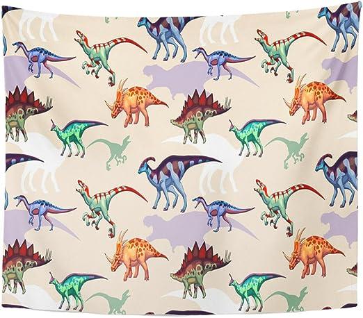 Berrykey Tapestry Dinosaurs Raptor Carnota Urus estegosaurio Parasaurolophus Styracosaurus tsintaosaurus Tyrannosaurus Home Decor Wall Hanging for Living Room Bedroom Dormisette 50 x 60 Inches: Amazon.es: Juguetes y juegos