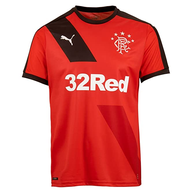 a385c2ba68b4 Puma Mens Glasgow Rangers Football Club Away Shirt Jersey T-Shirt Top 15 16  Red  Amazon.co.uk  Sports   Outdoors