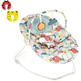 Mamas & Papas Vibrating Baby Capella Bouncer Package With 2 Safety Doorstops - Colour Moons & Clouds - Suitable From 0-6 Months