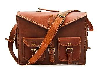 91f7052e2e RSN 13 Inch Leather Bags Office Laptop and Messenger Bag for Men Women Boys