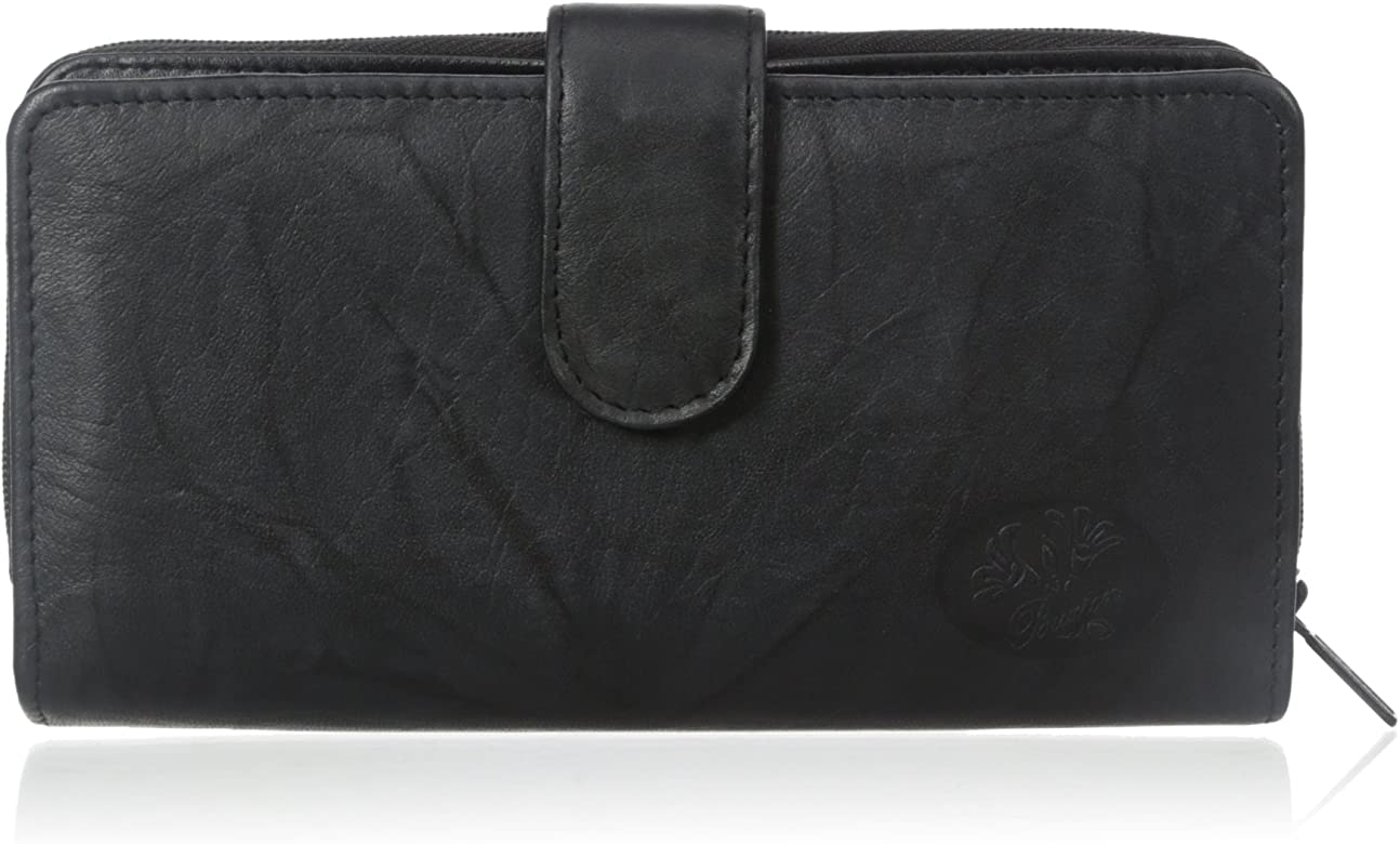 376e4a03d969df Amazon.com: Buxton Women's Heiress Checkbook Wallet, Black, One Size ...