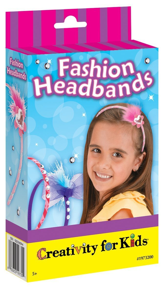 Creativity for Kids Fashion Headbands Mini Craft Kit - Makes 3 Head Bands Faber-Castell