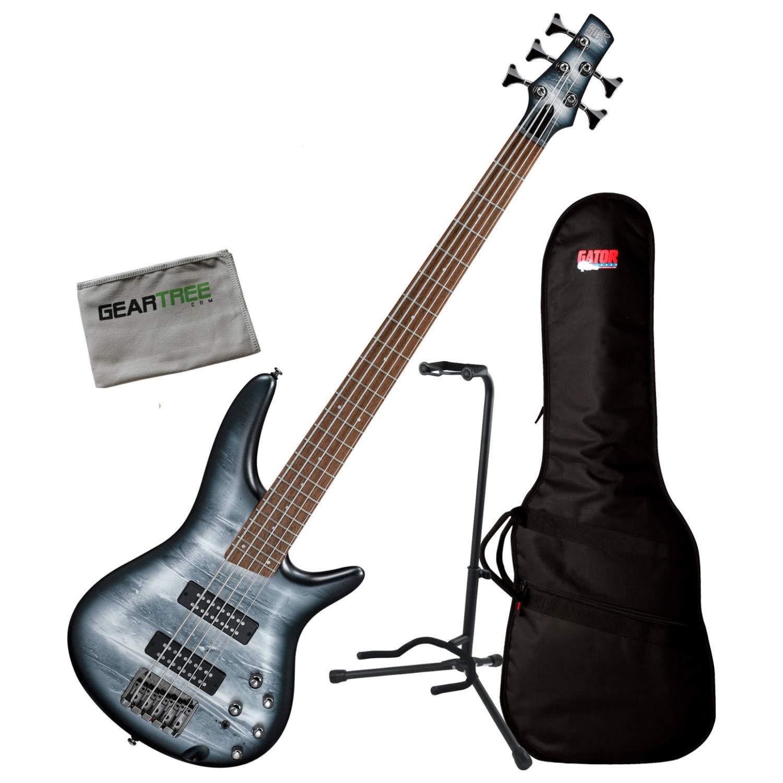 Ibanez SR305E BPM Black Planet SR Standard 5-String Bass Guitar w/Bag, Stand, an
