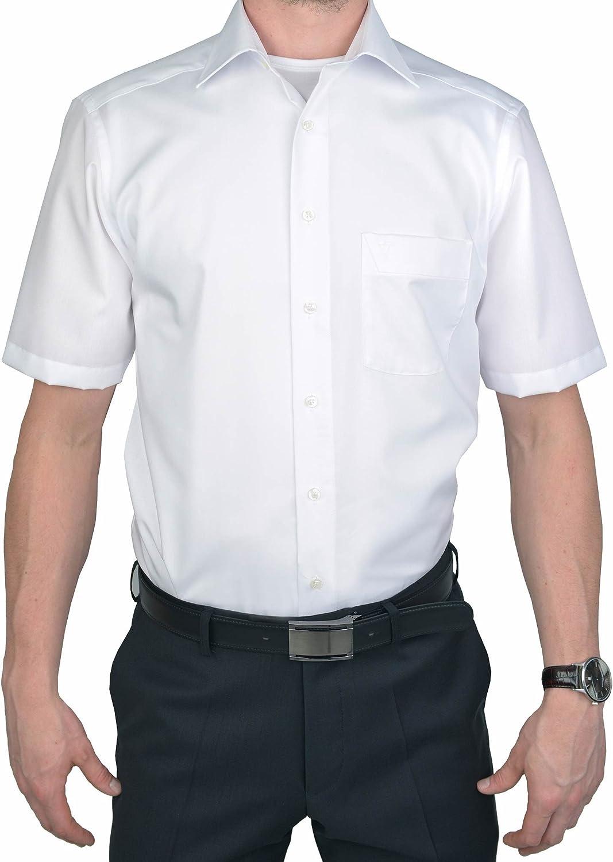 Marvelis Modern Fit - Camisa de manga corta, color blanco Blanco 49: Amazon.es: Ropa y accesorios