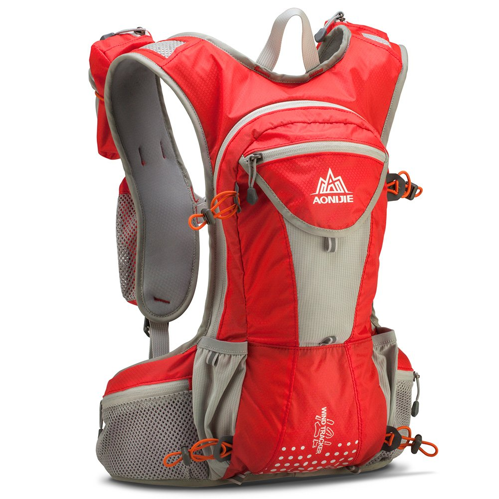 Tofern 12l大容量Hydrationベストバックパックパック軽量撥水メンズレディースランニングサイクリングハイキング登山  レッド B07C3NG1K9