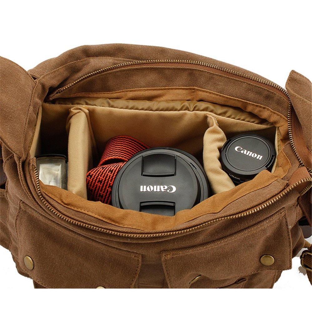 35 32 10cm Briefcase Color : Yellow Multi-Color Optional FLYSXP Mens Shoulder Crossbody Canvas Bag SLR Camera Digital Camera Bag SLR Camera Bag
