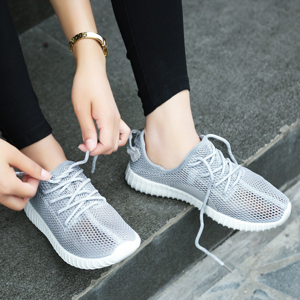 Qmber Unisex Damen Laufschuhe Schn/ür Sneaker Sport Fitness Turnschuhe Platform Sneaker Unisex Erwachsene Rebound Street Hohe Sneaker