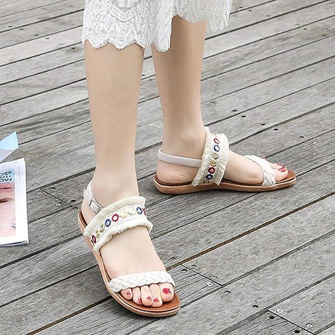 Sandali alla caviglia per donna, pantofole Gladiator wedge