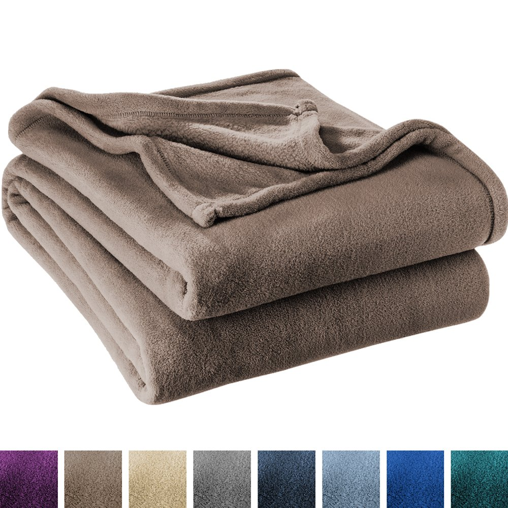 Ivy Union Ultra Soft Microplush Velvet Blanket - Luxurious Fuzzy Fleece Fur - All Season Premium Bed Blanket (Full/Queen, Taupe)