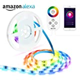 LED Strip Lights, OxyLED 16.4ft 150 LEDs WiFi Wireless Smart Phone Controlled/Alexa Echo Controlled, Waterproof IP65 LED Light Strip Kit LED TV Back Light Strip, Working with Android and iOS System