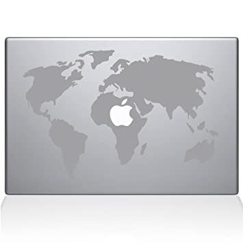 Amazon the decal guru world map macbook decal vinyl sticker the decal guru world map macbook decal vinyl sticker 13quot macbook air silver gumiabroncs